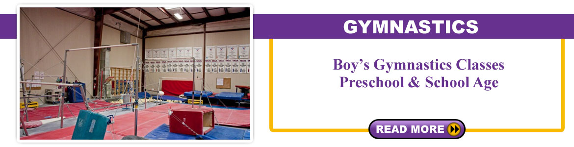 Boy's Gymnastics Classes -  Pre School & School Age