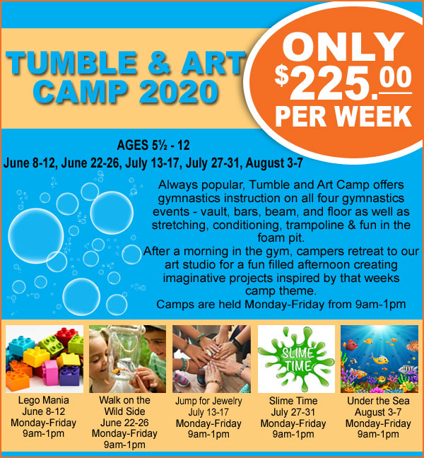 Tumble and Art Camp 2020